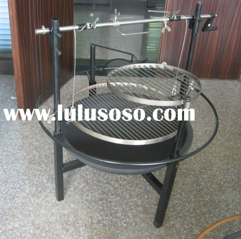 Metal outdoor BBQ fire pit