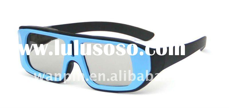 New design plastic frame IMAX and real D 3D movies polarizing glasses