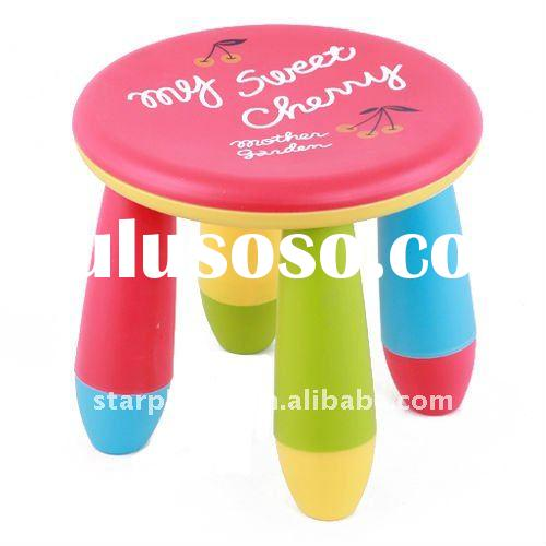 Popular durable colorful plastic round kid's stool for children