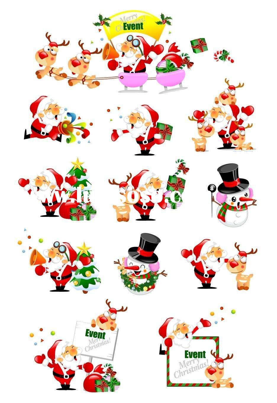 christmas PVC wall sticker for decoration