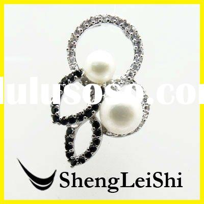 freshwater pearl pendant silver jewelry