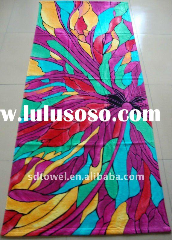 100%cotton printed bath towels