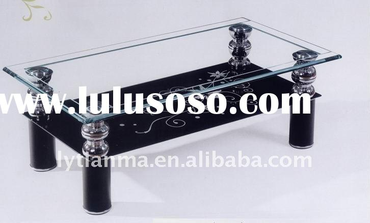 2011 hot sell glass coffee table