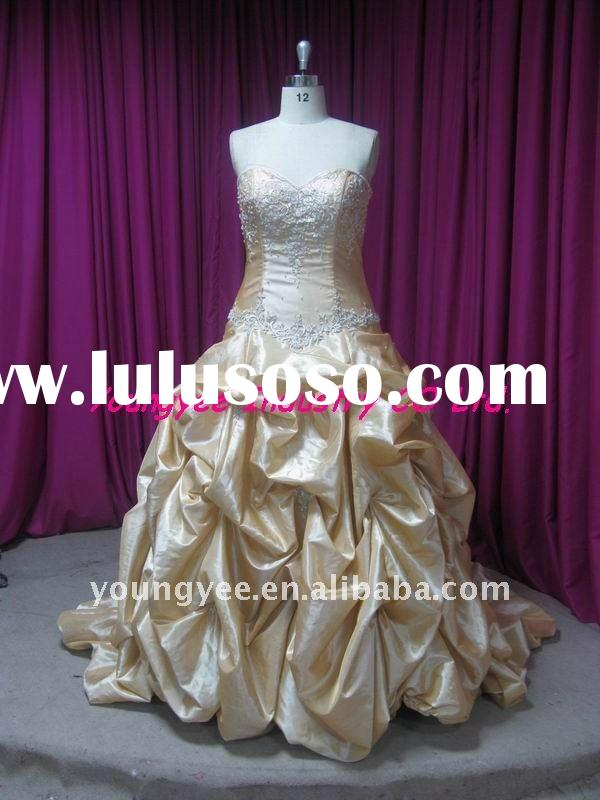 2012 hot style ball gown sweetheart neckline taffeta wedding gown(Tiffer)