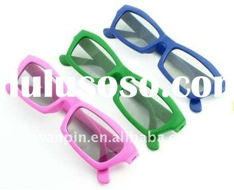 Hot selling plastic frame polarized lenses 3d glasses in different color
