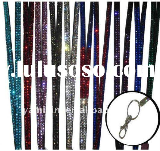 Rhinestone Lanyard with keychain and Lobster Clasp