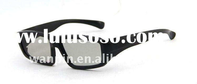 Top qaulity plastic frame real d circular polarization 3d glasses