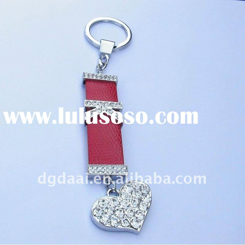 beautiful red feather keychain