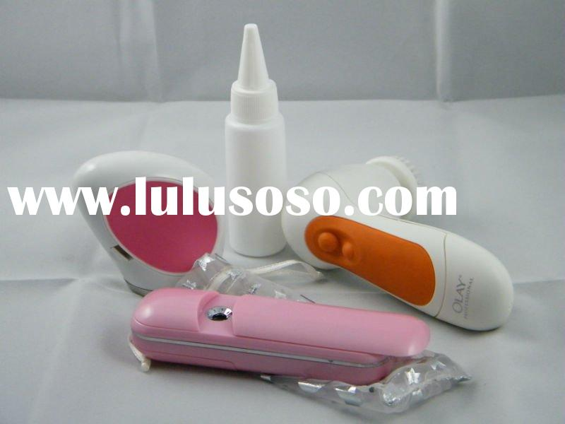 nano ultrasonic skin care tool suit, withdrawable battery and perfume sprayer
