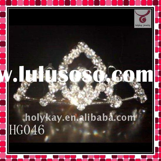 2011 latest fashion wedding tiara with rhinestone,designer crystal wedding crown,hotsell hair access