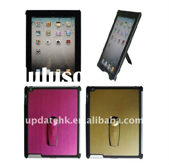 Aluminum case with stand for Ipad 2