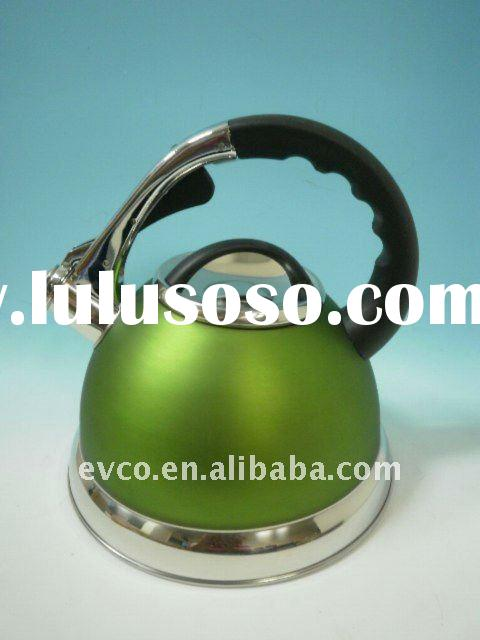 Camille 3.0 Qt. Stainless Steel Whistling Tea Kettle - Opaque Chartreuse