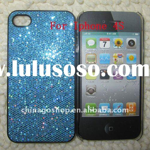 Glitter shining back hard case cover for iphone 4S/4G