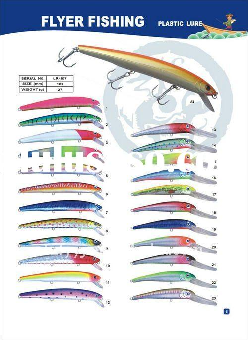 Good quality Plastic Fishing Lures 24colors with imported Japan ABS material and overstriking h  vvb