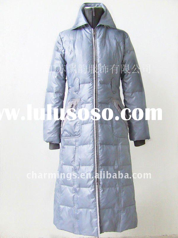 High quality and warm fashion long down coat for woman