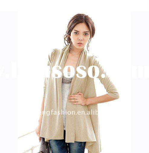 Intellectual temperament -Ladies  fashion long sleeve leisure cardigan
