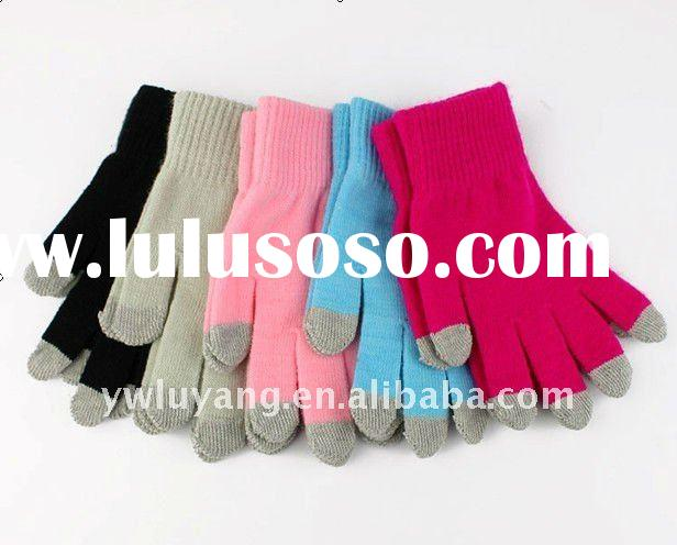New fashion 100% wool touch screen gloves,winter touch screen gloves,wool warm gloves