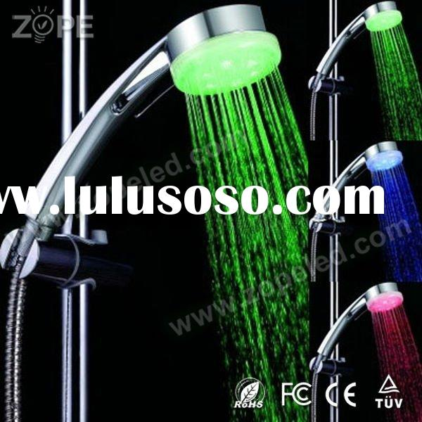 Plastic Material Color Light  LED Shower Head