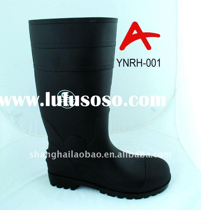 YNRH-001 / Black PVC Heavy duty safety Boots