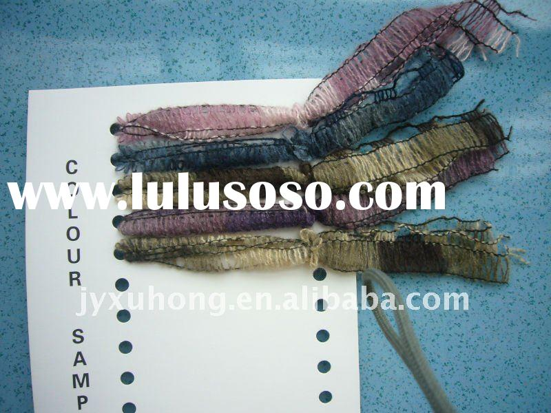 colorful acrylic track yarn for knitting scarf