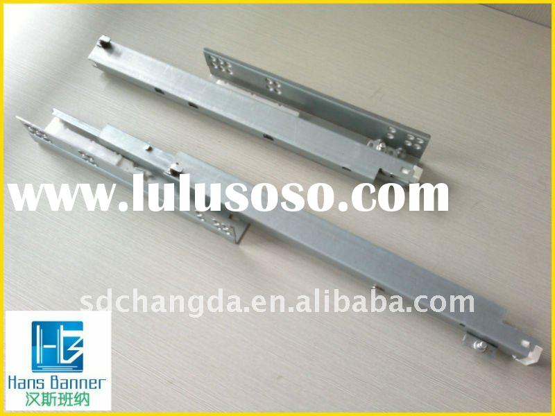 full extension heavy duty drawer slide with push open function
