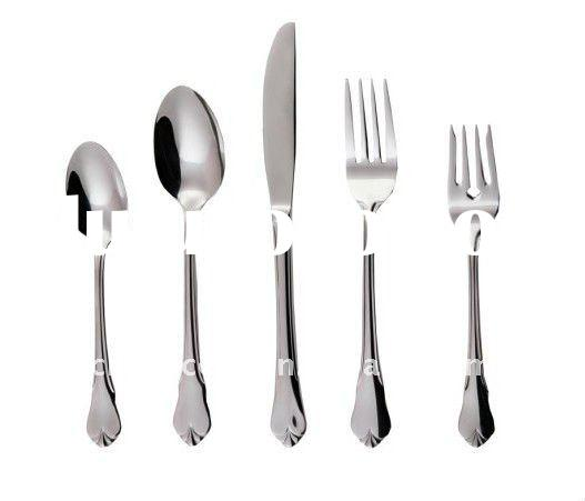 mirror polished fashion stainless steel 72pc set flatware