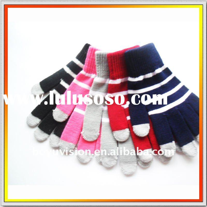striper design touch gloves Conductive Electronic products