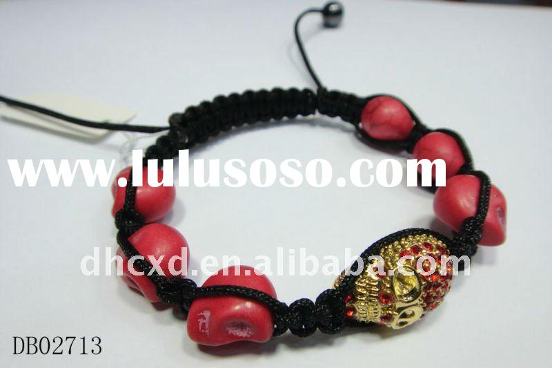 wholesale tresor paris cheap shamballa skull bracelet&bangle