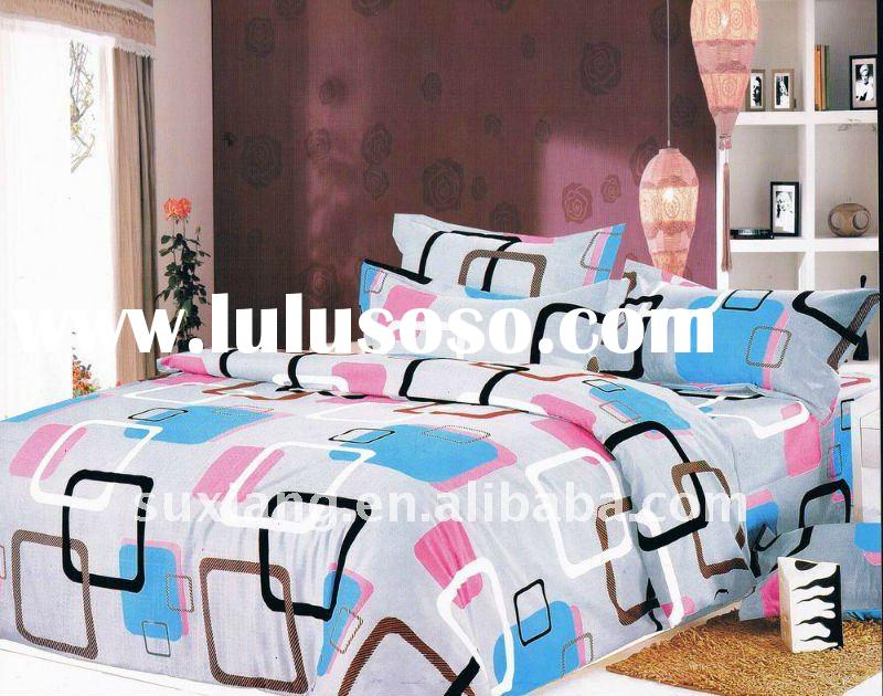100% Polyester Peach Printed Bedding Sets ed Sheet Duvert cover 4pcs