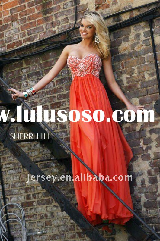 Customize strapless new style evening gowns E3210