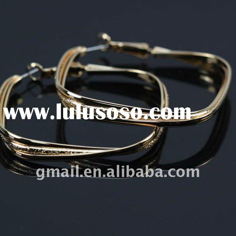 Hot gold plated fashion design hoop earrings
