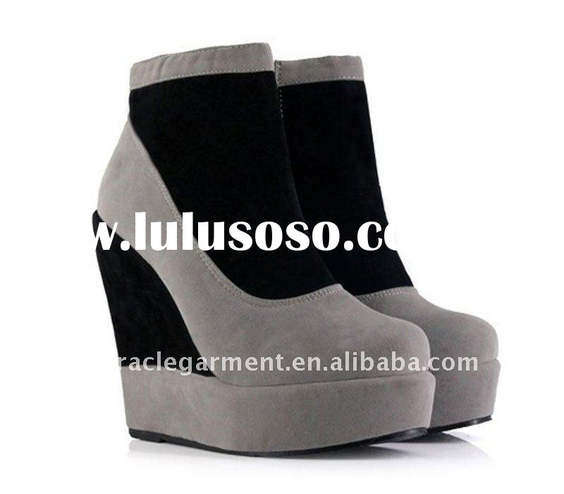 Newest fashion wedge heel ankle platform boot