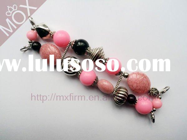 Pink Breast Cancer Bracelets Bead Watch Band Wholesale Supply