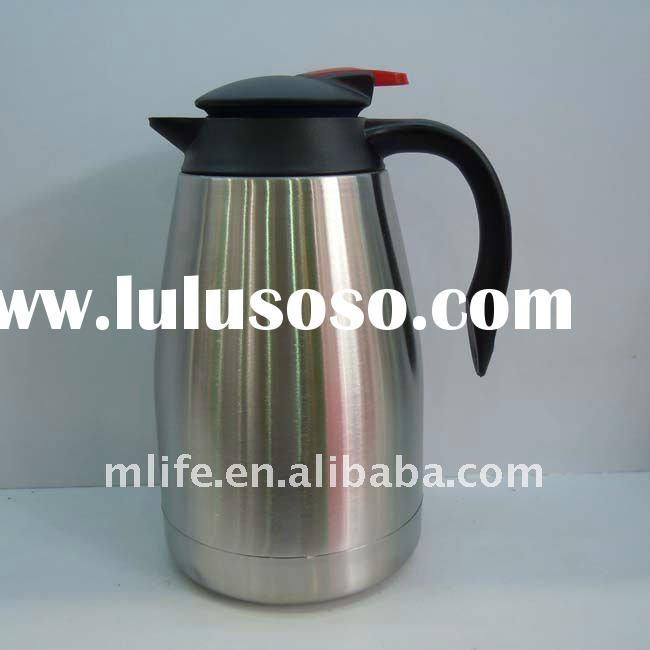 Stainless steel BPA free coffee pot with easy-grip handle
