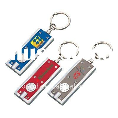hot promotional gifts customize led keychain JLP-016