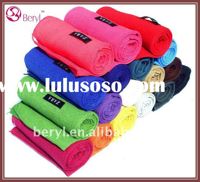 18 Solid color cotton fashion scarf