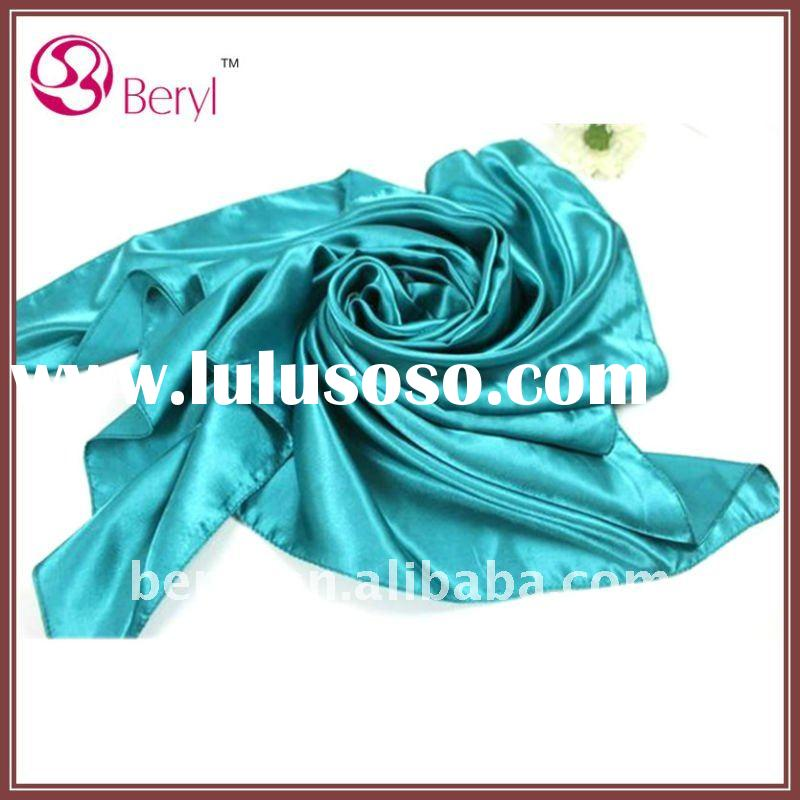 Custom promotional polyester satin scarf