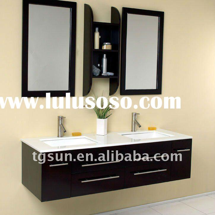 Hot Double Sink Solid Wood Bathroom Furniture