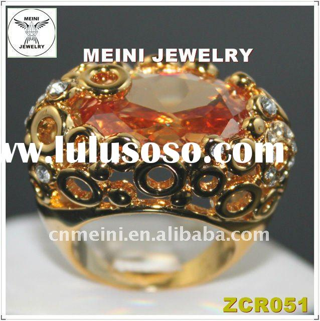 Zircon Fashion Gold Finger Ring
