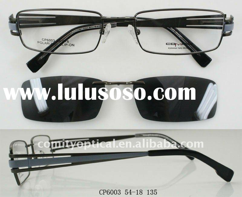 CP6003  clip on frames, with polzrized sunglasses lens