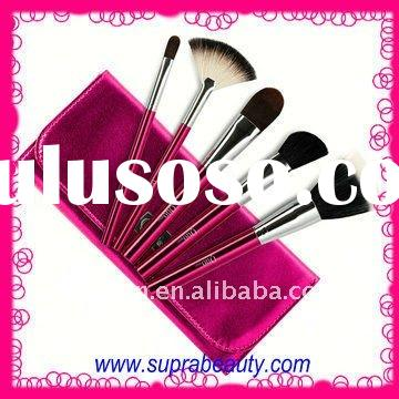 Fashion set of 5pcs synthetic hair cosmetic makeup brush