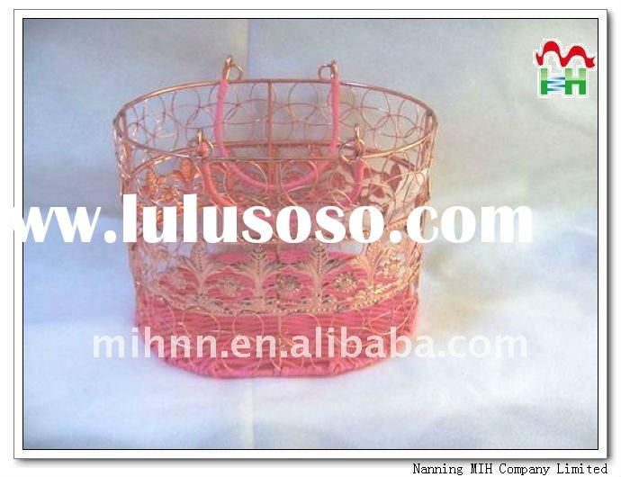 Oval Shape decoration storage basket and metal wire basket