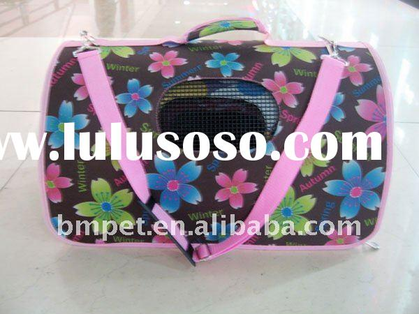 Printed Calico Pet Dog Case Travel Carrier Bags