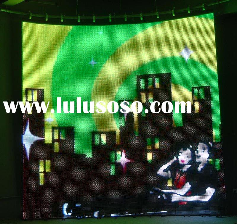outdoor full color LED flexible curtain