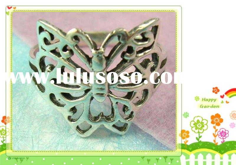 wholesale fashion insect jewelry in fashion  butterfly rings