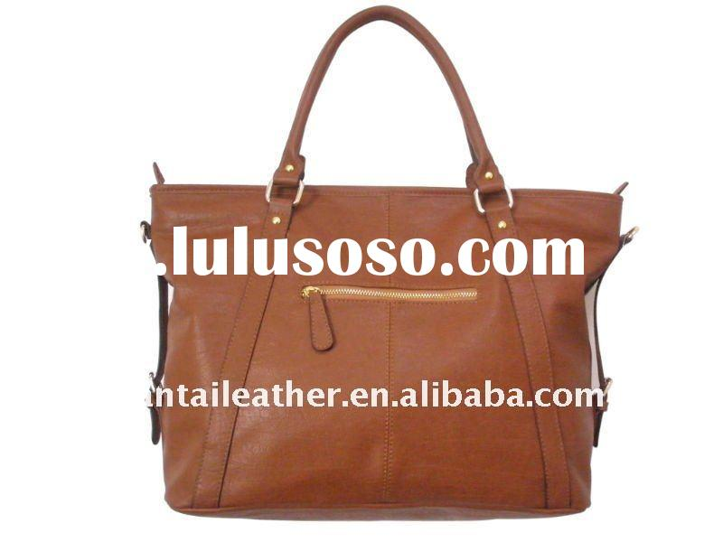 2011 hot selling fashion leather shopping bag