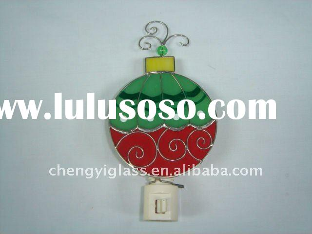hot !!!   Stained Glass mini Night Light for Christmas decorations