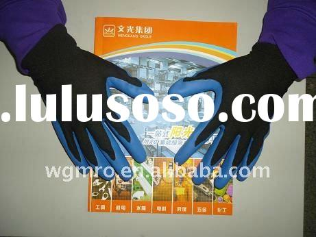 13G Nylon Nitrile Coated working safety Gloves
