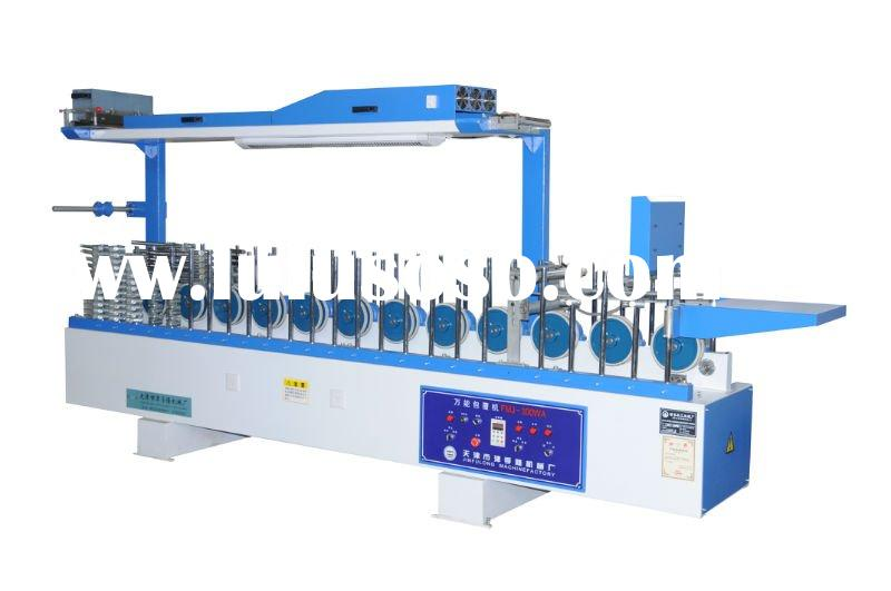 Cold glue profile wrapping machine