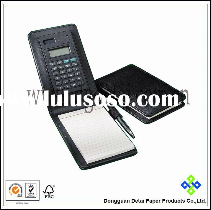 Gift PU Cover Notebook with Calculator